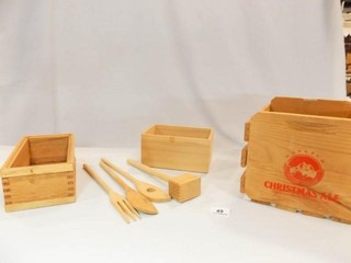 Wood Boxes  Utensils  Wasatch Crate