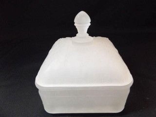 Tiara Frosted Candy Dish 6  tall x 5