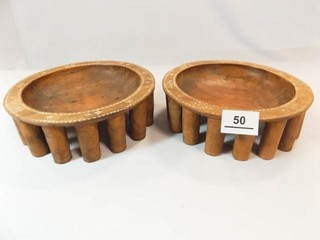 1943 WWI Samoa Hand carved Bowls  2