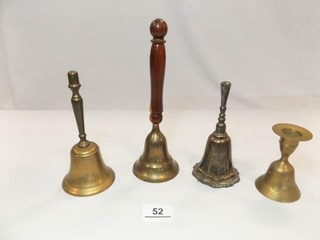 Bells  Brass  Silver plate  4