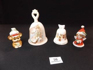 Bells  Christmas   Noritake  Homco  4
