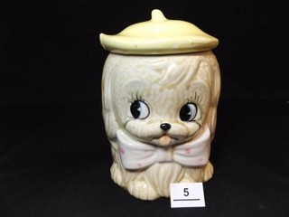 Puppy Cookie Jar  Japan  7  tall x 5