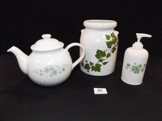 Ivy Teapot  Jar  Soap Dispenser  3