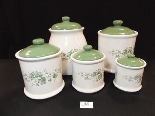 Ivy Canister Set  5 Piece