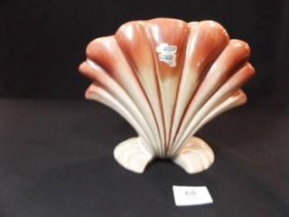 Western Coast Pottery Shell Vase  71 2