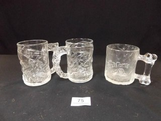 McDonald s Batman  2  Flintstone Mugs