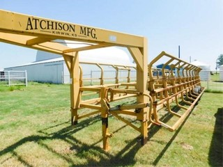 Atchison MFG  14000lb  double sided hay trailer