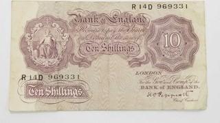 England 10 TEN SHILLINGS 1940s