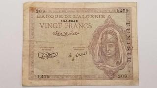 1944 A lgeria 20 Francs