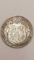 1923 Britain Silver Half Crown Coin