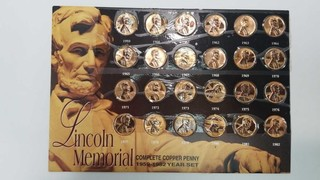 Lincoln Memorial Penny Set 1959 to 1982