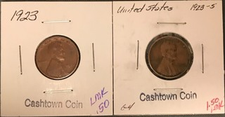 Two Different Lincoln Wheat Cents - 1923 & 1923-S