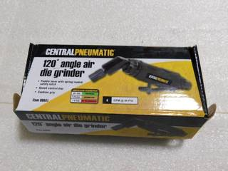 New Central Pneumatic 120 Degree Angle Air Die Grinder