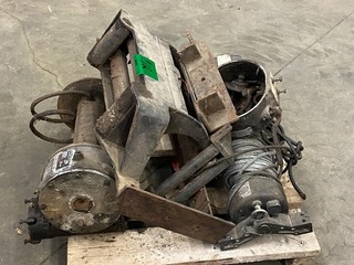 Lot Of (2) Heavy Duty Electric Winches