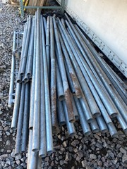 Large Lot Of Galvanized Pipe & Chain Link Fence