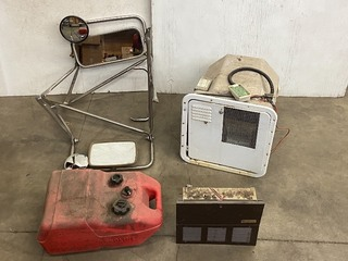 Lot Of: Vehicle Mirrors, Boat Fuel Tank, RV Water Heater & Power Inverter