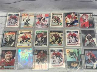 Lot of 18 Ed Belfour Hockey Cards