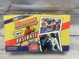 1993 Bowman Unopened Jumbo Pack Cards