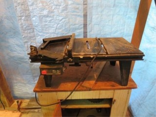 7 1/4in. Table Saw on cabinet