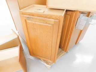 5 wood cabinets
