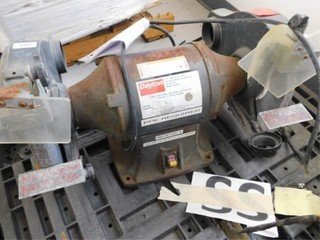 Dayton Model 2lkT2  10  industrial bench grinder