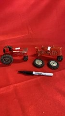INTERNATIONAL FARMALL 656 TOY TRACTOR AND LITTLE