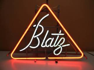 VINTAGE ORIGINAL BLATZ BEER NEON LIGHT - WORKS! - OLD SCHOOL! - APPROX 24