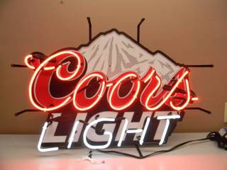 NEW OLD STOCK COOR'S LIGHT NEON LIGHT - VERY NICE!!!!! - WORKS! - PERFECT FOR THE CAVE! - APPROX 30
