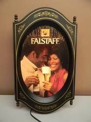 VINTAGE RARE HARD TO FIND! - FALSTAFF BEER LIGHT - WORKS! - APPROX 12
