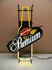 VINTAGE GRAIN BELT PREMIUM BOTTLE BEER NEON LIGHT - GREAT PIECE! - WORKS! - APPROX 19