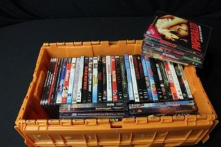 Tote of 45 DVD's
