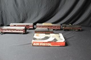 Marksman Air Pistol & 5pc. Train w/a 612 Engine