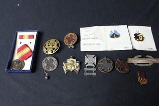 12 Military Badges & Pins
