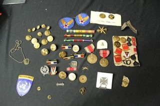 Military Bars, Badges, Pins, Buttons, Patches