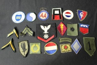 19 Military Patches and a Stickeer