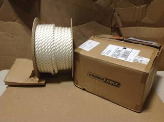 3/4 in. x 150 ft. Nylon Twist Rope, White in good condition