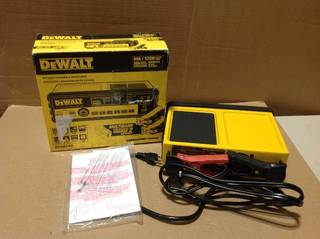 DEWALT 30 Amp Multi Bank Battery Charger with 80 Amp Engine Start in good condition