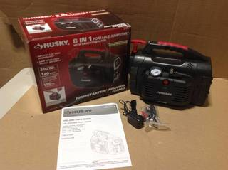 Husky 8-in-1 12-Volt Power Source/Jumpstarter in good condition