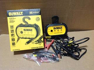 DEWALT 4 Amp Professional Waterproof Battery Charger in good condition