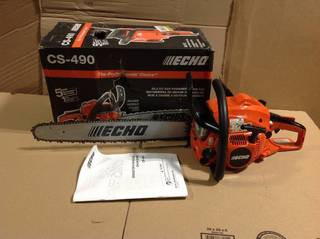 20 in. 50.2 cc Gas 2-Stroke Cycle Chainsaw in good condition