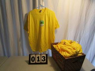 Futbol Short Sleeve Logo T-Shirts - Yellow