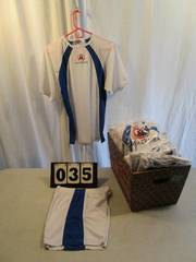 Short/Shirt Sets - Mazamba - White/Royal Blue Trim
