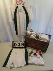 Short/Shirt Sets - Mazamba - White/Green trim