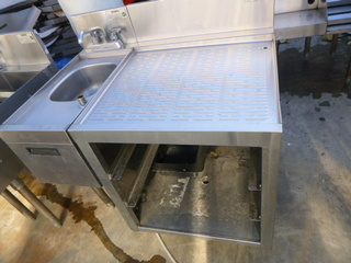 Krown Hand Sink and Glass Rack Storage Unit