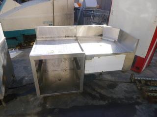 Krown Glass Rack Storage Unit and 45 Degree Rear Angled Corner Drainboard