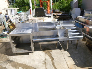 Krown Glass Rack Storage Unit, Ice Bin, Blender/Liquor Dump Sink and Liquor Display.