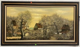 Oil On Canvas Signed And Framed 55x31 See Photos