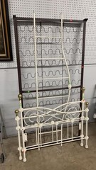 Ivory Metal And Brass Daybed Headboard 77