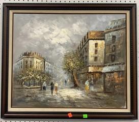 Oil On Canvas Signed And Framed Burnett 28.5x24.5