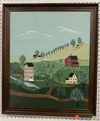 Oil On Canvas Framed 23x27